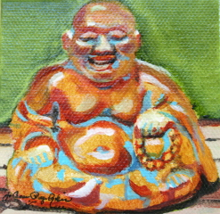 """Happy Guy"" original fine art by JoAnne Perez Robinson"