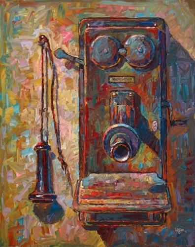 """Old Western Electric Telephone"" original fine art by Raymond Logan"