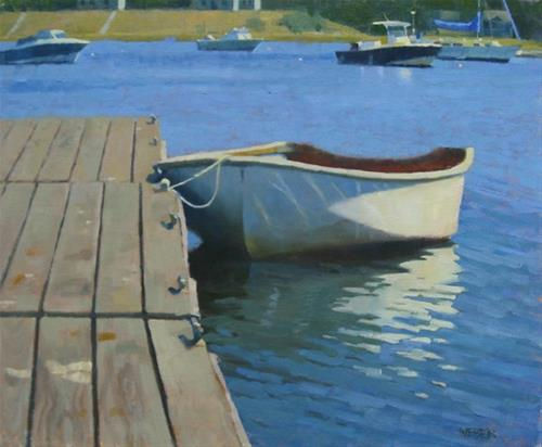 """Docked"" original fine art by Kathy Weber"