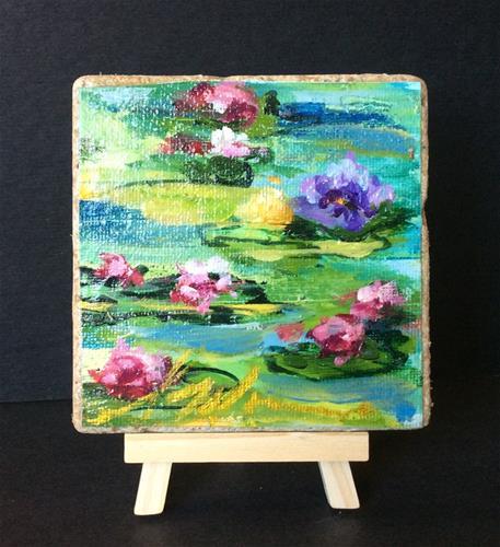 """""""Monet's Pond"""" original fine art by Susie Monzingo"""