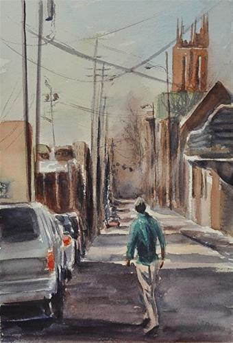 """Church Street, Lexington"" original fine art by Peggy Bishop"