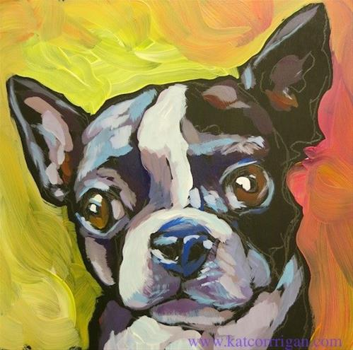 """Sorry, Did You Say Something?"" original fine art by Kat Corrigan"