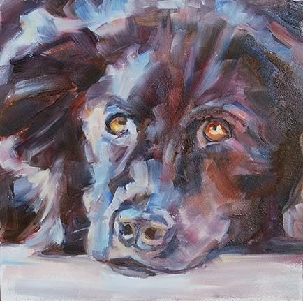 """Day 15 0f 30 - Bright Eyes"" original fine art by Carol DeMumbrum"