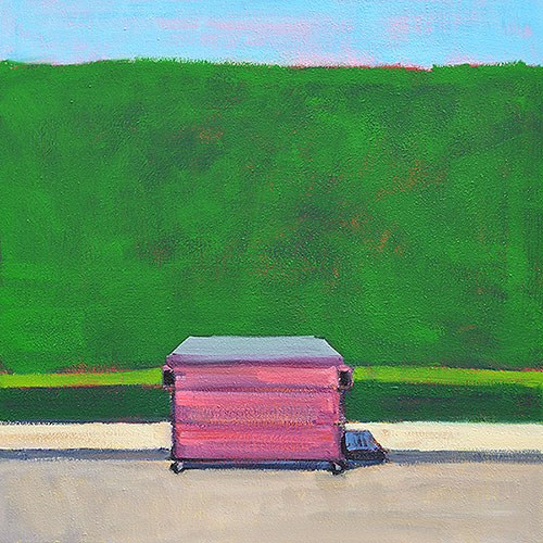 """Hot Pink Dumpster, La Jolla"" original fine art by Kevin Inman"
