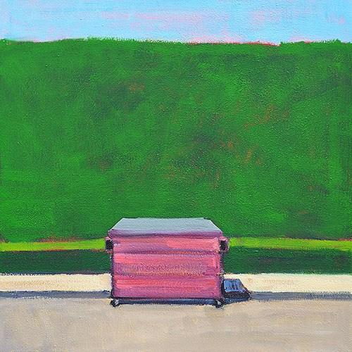 """Hot Pink Dumpster, La Jolla"" original fine art by Kevin Inman"