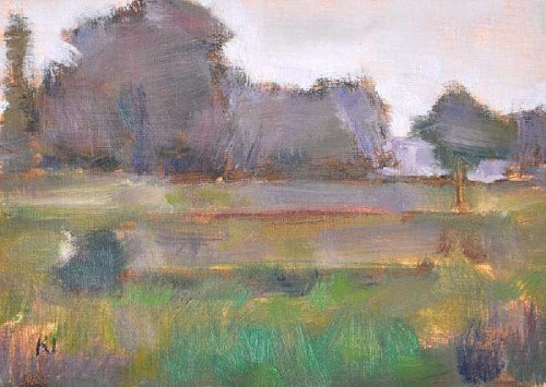 """Boise Farm, Fog Effect"" original fine art by Kevin Inman"