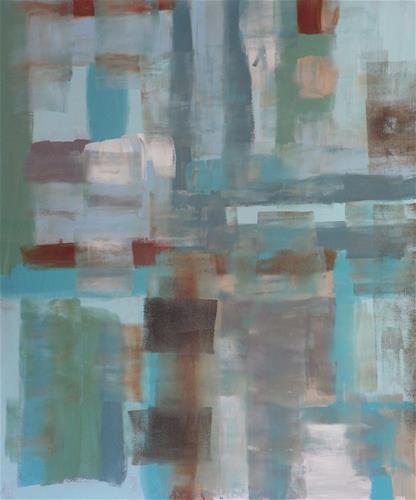 """Turquoise Cheerfulness"" original fine art by Angele Sage"