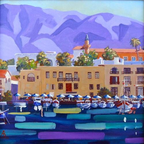 """Kyrenia Harbour, N Cyprus"" original fine art by Alix Baker"