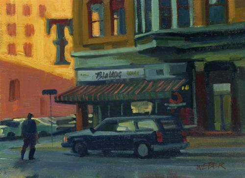 """T is for Tavern"" original fine art by Kathy Weber"
