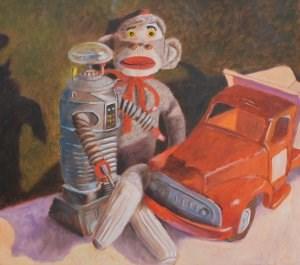 """""""Best Friends"""" original fine art by Robert Frankis"""