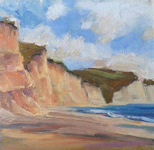 """Drakes Beach Coastline"" original fine art by Deborah Newman"