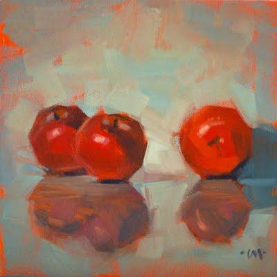 """Reflecting Together"" original fine art by Carol Marine"