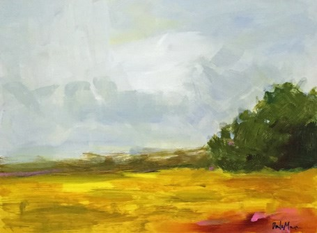 """""""October Field"""" original fine art by Pamela Munger"""