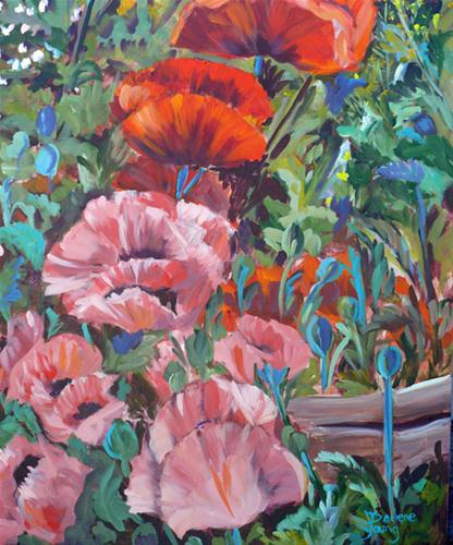 """James Bay Poppies"" original fine art by Darlene Young"
