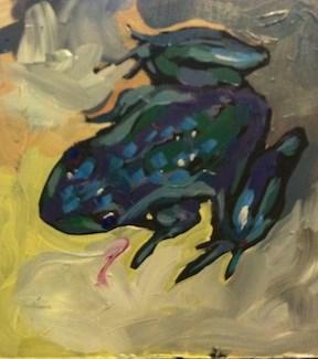 """Big Marine Frog #1"" original fine art by Kat Corrigan"