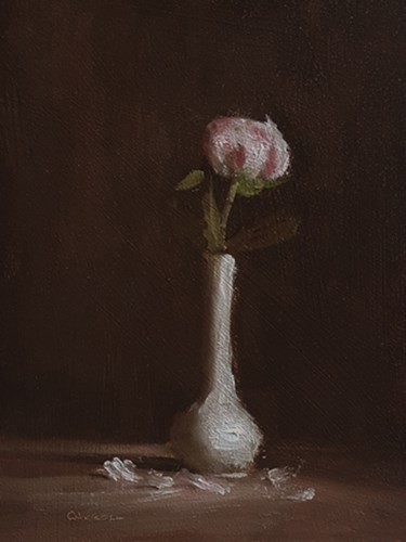 """Peony Bud"" original fine art by Neil Carroll"