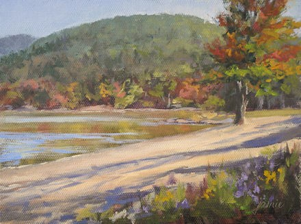 """Autumn at the Beach"" original fine art by Jamie Williams Grossman"