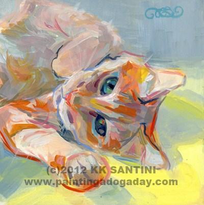 """Hello Kitty (Dexter)"" original fine art by Kimberly Santini"