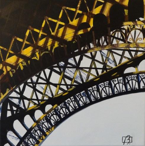 """""""Eiffel Tower with Light II"""" original fine art by Andre Beaulieu"""