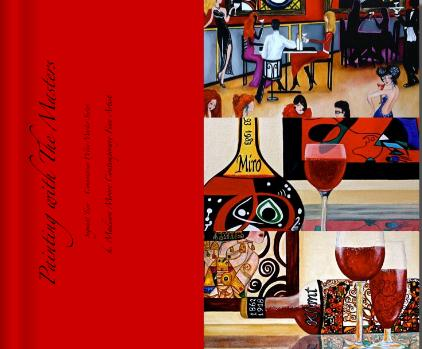 Connoisseur Wine Masters Series Coffee Table Art Book, by k Madison Moore original fine art by K. Madison Moore