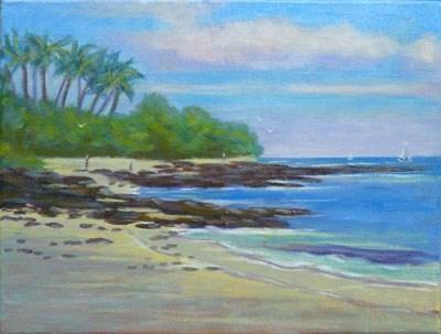 """Kukio Beach"" original fine art by Stan Chraminski"