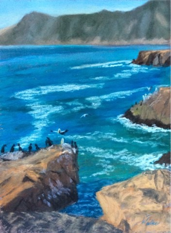 """I'LL TAKE MINE ON THE ROCKS!"" original fine art by Marti Walker"