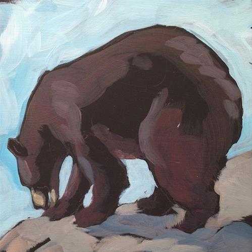 """Bruin Shape"" original fine art by Kat Corrigan"