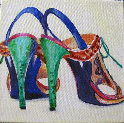 """Fun Sandals"" original fine art by Nan Johnson"