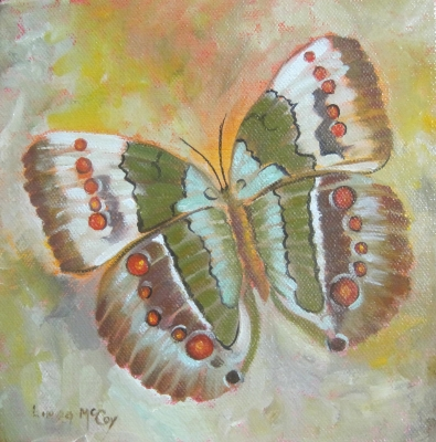 """First Flight, Butterfly Painting by Linda McCoy"" original fine art by Linda McCoy"