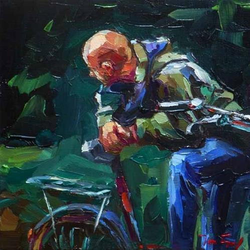 """Bicycle Tour"" original fine art by Jurij Frey"