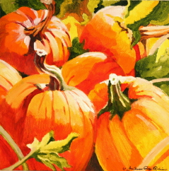 """Wednesday Afternoon, October"" original fine art by JoAnne Perez Robinson"