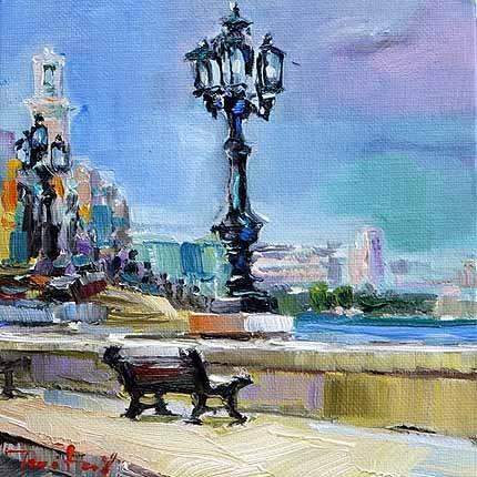 """""""Promenade"""" original fine art by Jurij Frey"""