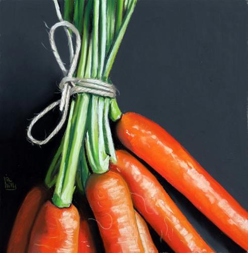 """bunch of carrots"" original fine art by Ria Hills"