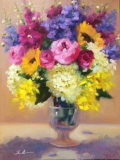 """Joyful Inspiration"" original fine art by Pat Fiorello"