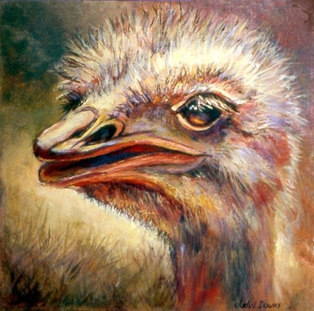 """Emu luv U"" original fine art by Judy Downs"