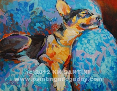 """Beauty Rest"" original fine art by Kimberly Santini"