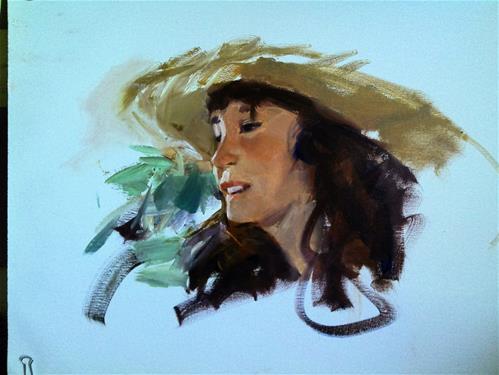 """sketched Lynn ay SD fair"" original fine art by Richard Schiele"