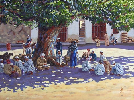 """Goat market, Nizwa, Oman"" original fine art by Alix Baker"