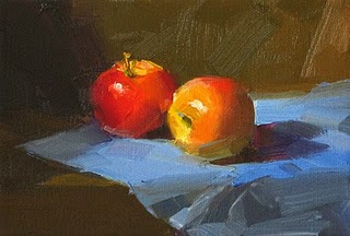 """""""In a Cool Spot --- Sold"""" original fine art by Qiang Huang"""