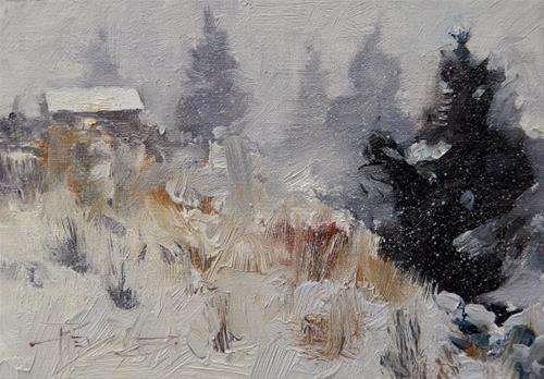 """Echo Valley Cabin #2  oil, landscape painting by Robin Weiss"" original fine art by Robin Weiss"
