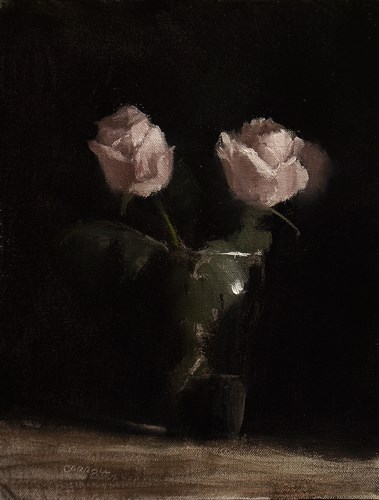 """Pint of Roses"" original fine art by Neil Carroll"