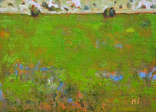 """Field, Boise"" original fine art by Kevin Inman"