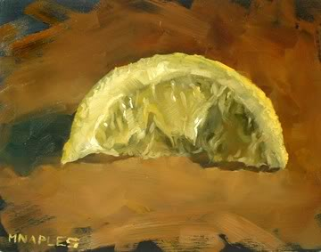 """Squeezed Lemon"" original fine art by Michael Naples"