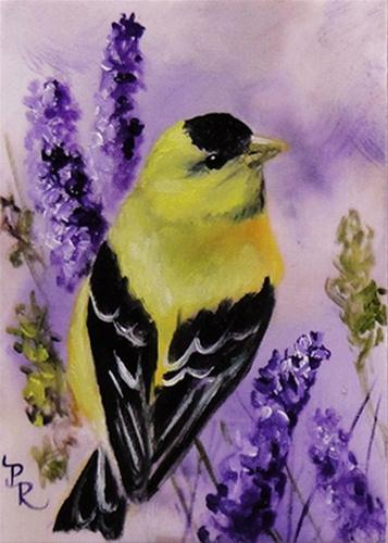 """Lavender Sunshine"" original fine art by Paulie Rollins"