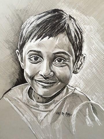 """Eshaan"" original fine art by Piya Samant"