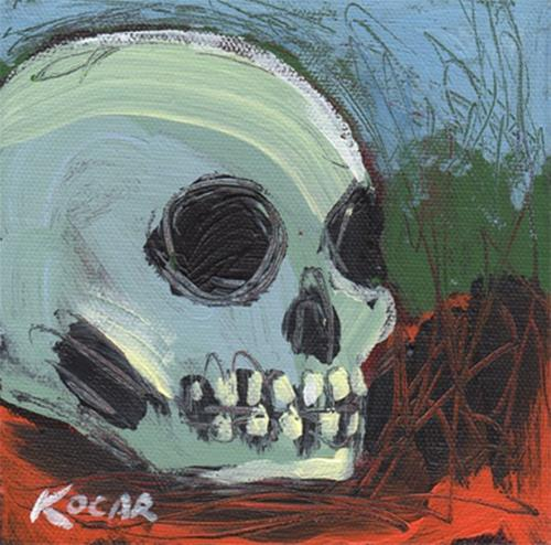 """Fall Skull #1"" original fine art by George Kocar"