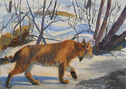 """On the Prowl"" original fine art by Jamie Williams Grossman"