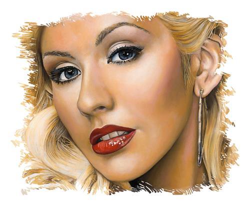 """Christina"" original fine art by David Clark"