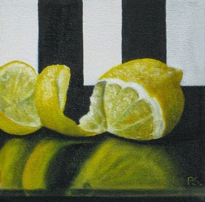 """Lemon Twist"" original fine art by Pera Schillings"
