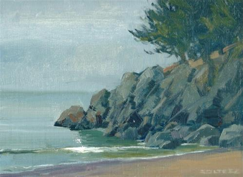 """Above little beach"" original fine art by J. Thomas soltesz"